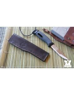 Funda cuero negro para cuchillo Mora