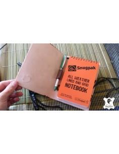 Cuaderno de campo A6  en cuero marrón