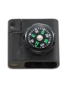 Accesorio para pulsera de paracord con brújula y pedernal de CRKT