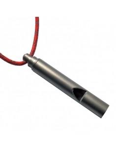 Silbato de titanio Vargo, con cordón