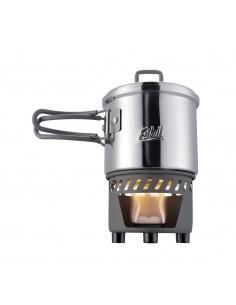 Set de cocina para combustible sólido Esbit. Acero inoxidable
