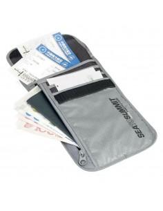 Neck Wallet RFID Gris