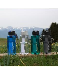 Botella de filtro de agua LifeStraw Go 1L.