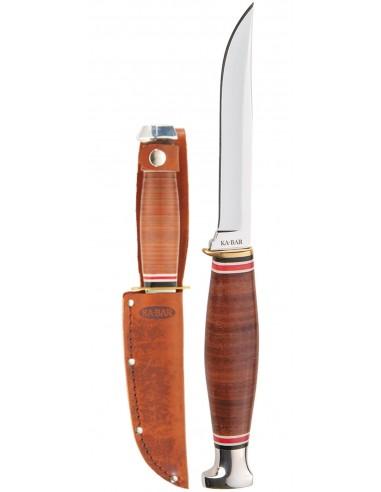 Cuchillo Ka-Bar Little Finn-Stacked Leather Handle
