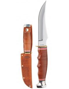 Cuchillo Ka-Bar Skinner-Stacked Leather Handle